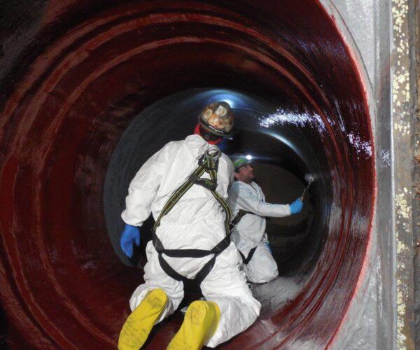 Composite Pipe Repair Circulating Water Lines