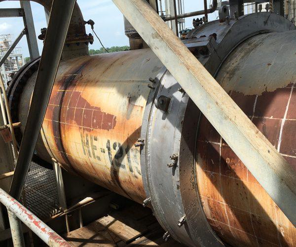 Composite Pipe Repair Heat Exchanger Shells