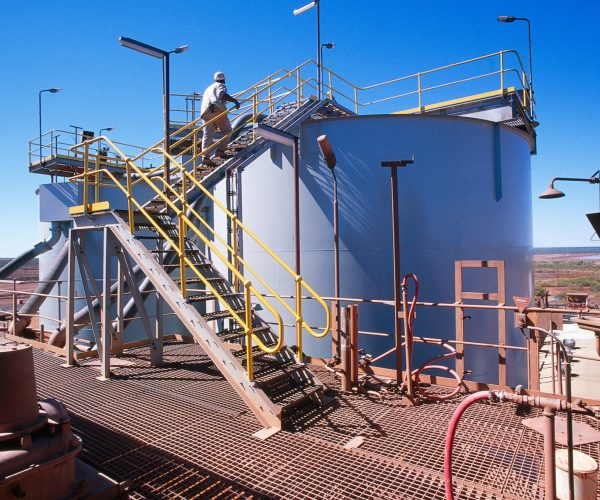 View of Gold Mining processing plant in the desert of Australia