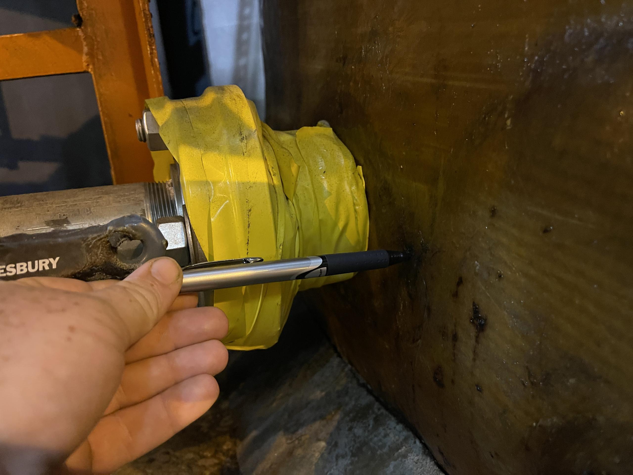 Pipe spot damage and repair
